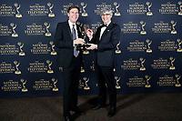 PASADENA - May 5: Lee Cowan, Mo Rocca in the press room at the 46th Daytime Emmy Awards Gala at the Pasadena Civic Center on May 5, 2019 in Pasadena, California