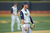 West Virginia Mountaineers third baseman Cole Austin (28) on defense against the Wake Forest Demon Deacons in Game Six of the Winston-Salem Regional in the 2017 College World Series at David F. Couch Ballpark on June 4, 2017 in Winston-Salem, North Carolina. The Demon Deacons defeated the Mountaineers 12-8. (Brian Westerholt/Four Seam Images)