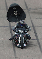 Feb 26, 2017; Chandler, AZ, USA; NHRA top fuel nitro Harley Davidson rider Jake Stordeur during the Arizona Nationals at Wild Horse Pass Motorsports Park. Mandatory Credit: Mark J. Rebilas-USA TODAY Sports