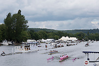 Henley on Thames. United Kingdom.  General view of eights on the Henley Course,    Thursday,  30/06/2016, .     2016 Henley Royal Regatta, Henley Reach.   [Mandatory Credit Peter Spurrier/ Intersport Images]