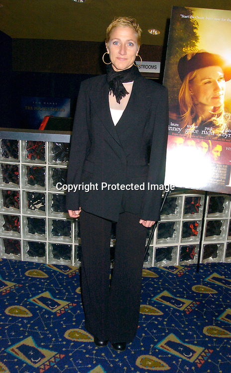 """Edie Falco ..at the New York Premiere of """"ps"""" on October 12, 2004 ..at the Clearview Chelsea West. ..Photo by Robin Platzer, Twin Images"""