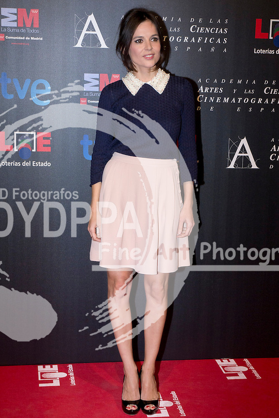 28/01/2012. Real Casa de Correos. Madrid. Spain. Goya Awards Nominated Gala 2012. Elena Anaya