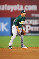 Lynchburg Hillcats shortstop Yu-Cheng Chang (6) during a game against the Wilmington Blue Rocks on June 3, 2016 at Judy Johnson Field at Daniel S. Frawley Stadium in Wilmington, Delaware.  Lynchburg defeated Wilmington 16-11 in ten innings.  (Mike Janes/Four Seam Images)
