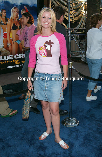 Maeve Quinlan arriving at the Blue Crush premiere at the Universal Amphitheatre in Los Angeles. August 8, 2002.