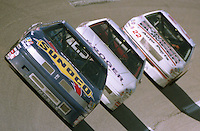 Sterling Marlin 94 Ernie Irvan 2 Grant Adcox 22 action Winston 500 at Talladega Superspeedway in Talladega , AL in May 1989.  (Photo by Brian Cleary/www.bcpix.com)