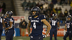 Nevada wide receiver Elijah Cooks (4) during the second half of an NCAA college football game against Hawaii in Reno, Nev., Saturday, Sept. 28, 2019. (AP Photo/Tom R. Smedes)
