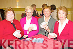 Marie Moynihan Killarney, Celia Doyle Dublin, Mai Corcoran and Hazel O'Connell Killarney playing cards at the Torc annual bridge congress in Killarney Friday night