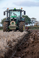 Ploughing stubble - Lincolnshire, October