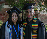 Roxana Lanuza-Alfaro and Rickie Bailey II during the University of Nevada College of Business and Division of Health Sciences graduation ceremony on Friday morning, May 19, 2017.