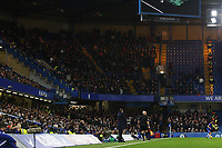 Swansea City manager Paul Clement stands on the touchline in front of the Swansea City fans during the Premier League match between Chelsea and Swansea City at Stamford Bridge, London, England, UK. Wednesday 29 November 2017