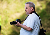 Photographer Dave Webster at the ISPS Handa Premiership football match between Team Wellington and Hamilton Wanderers at David Farrington Park in Wellington, New Zealand on Sunday, 18 March 2018. Photo: Dave Lintott / lintottphoto.co.nz