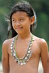 Retrato de niña emberá / comunidad indígena emberá, Panamá.<br /> <br /> Víctor Santamaría.