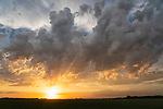 Dramatic sunset after a storm, Saskatchewan.