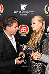 Paris Hilton arrives at the VIP Room for her birthday.<br /> Paris Hilton fell in love with the Belgian designer J&eacute;r&eacute;my Urbain which has just launched its new brand &quot;Crazy Chihuahua&quot;<br />  Cannes, May 15, 2015