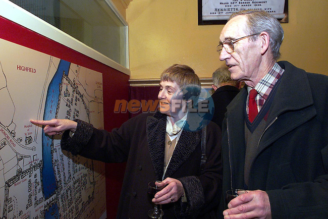 Tim and Una O'Connor at the opening of The Heritage Centre..Picture Paul Mohan Newsfile..Camera:   DCS620C.Serial #: K620C-01943.Width:    1728.Height:   1152.Date:  1/12/99.Time:   20:29:06.DCS6XX Image.FW Ver:   1.9.6.TIFF Image.Look:   Product.Tagged.Counter:    [1101].Shutter:  1/50.Aperture:  f8.0.ISO Speed:  200.Max Aperture:  f2.8.Min Aperture:  f22.Focal Length:  14.Exposure Mode:  Manual (M).Meter Mode:  Color Matrix.Drive Mode:  Continuous High (CH).Focus Mode:  Continuous (AF-C).Focus Point:  Center.Flash Mode:  Normal Sync.Compensation:  +0.0.Flash Compensation:  +1.0.Self Timer Time:  10s.White balance: Auto (Flash).Time: 20:29:06.277.