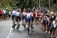 up the Col de Porte (final climb to the finish)<br /> <br /> Stage 2: Vienne to Col de Porte (135km)<br /> 72st Critérium du Dauphiné 2020 (2.UWT)<br /> <br /> ©kramon