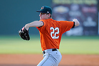 Pitcher Chris Stratton (22) of the Augusta GreenJackets in a game against the Greenville Drive on Thursday, May 9, 2013, at Fluor Field at the West End in Greenville, South Carolina. Stratton was a first-round pick by the San Francisco Giants in the 2012 First-Year Player Draft. (Tom Priddy/Four Seam Images)