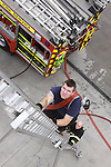 Fire Station Calender.Ladder Access.Photo: Fran Caffrey/www.newsfile.ie..