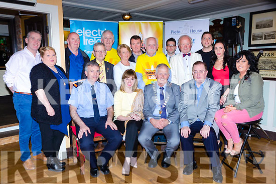 Launching Nathan's Darkness into Light walk in the Porterhouse on Tuesday night was front row l-r: Inspector Niall Crowley, Joan Freeman, Brendan Cronin Mayor, Tom McEllistrim Marie Carroll. Back row: Kieran O'Brien, Maureen McCormick, Gary McCormick, Cllr Donal Grady, Cathal Walsh, Noreen Cronin, Cllr John Sheahan, Aodan Griffin, Seanie O'Donoghue, Nialll O'Sulllivan and Noelle Brosnan