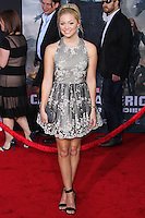 "HOLLYWOOD, LOS ANGELES, CA, USA - MARCH 13: Olivia Holt at the World Premiere Of Marvel's ""Captain America: The Winter Soldier"" held at the El Capitan Theatre on March 13, 2014 in Hollywood, Los Angeles, California, United States. (Photo by Xavier Collin/Celebrity Monitor)"