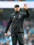 Liverpool's Jurgen Klopp apologises to the fans during the premier league match at the Etihad Stadium, Manchester. Picture date 9th September 2017. Picture credit should read: David Klein/Sportimage