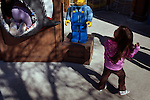 Children play outside the Boating School in Legoland in Whitehaven, Florida on February 11, 2012.