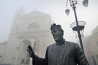- Brescello (Reggio Emilia),  la statua di Don Camillo in piazza<br /> <br /> - Brescello (Reggio Emilia), the statue of Don Camillo in the square