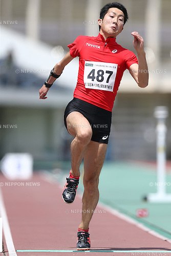 Hajimu Ashida,<br /> MAY 1, 2016 - Athletics :<br /> Japan Para Athletics Championships<br /> Men's Long Jump T47 Final<br /> at Coca Cola West Sports Park, Tottori, Japan.<br /> (Photo by Shingo Ito/AFLO SPORT)