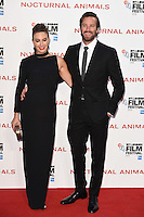 "Armie Hammer and wife, Elizabeth Chambers<br /> at the London Film Festival 2016 premiere of ""Nocturnal Animals"" at the Odeon Leicester Square, London.<br /> <br /> <br /> ©Ash Knotek  D3179  14/10/2016"