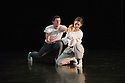 """London, UK. 15.04.2014. HeadSpaceDance present IF PLAY IS PLAY..., a triple bill of new work, in the Linbury Studio, Royal Opera House, London. Picture shows: Clemmie Sveaas and Jonathan Goddard, in """"Before the Interval"""".  Photograph © Jane Hobson."""