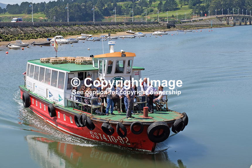 Regina Pacis Sexto, 5ST4.10-92, Santander, Spain, arriving Somo to disembark &amp; embark passengers on sightseeing trip around Bay of Santander, May, 2015, 201505080899<br />