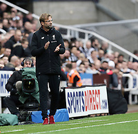 Liverpool manager Jurgen Klopp in the dug-out <br /> <br /> Photographer Rich Linley/CameraSport<br /> <br /> The Premier League -  Newcastle United v Liverpool - Sunday 1st October 2017 - St James' Park - Newcastle<br /> <br /> World Copyright &copy; 2017 CameraSport. All rights reserved. 43 Linden Ave. Countesthorpe. Leicester. England. LE8 5PG - Tel: +44 (0) 116 277 4147 - admin@camerasport.com - www.camerasport.com