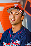 2 March 2019: Minnesota Twins top prospect outfielder Alex Kirilloff sits in the dugout prior to starting a Spring Training game as a designated hitter against the Washington Nationals at the Ballpark of the Palm Beaches in West Palm Beach, Florida. The Twins fell to the Nationals 10-6 in Grapefruit League play. Mandatory Credit: Ed Wolfstein Photo *** RAW (NEF) Image File Available ***