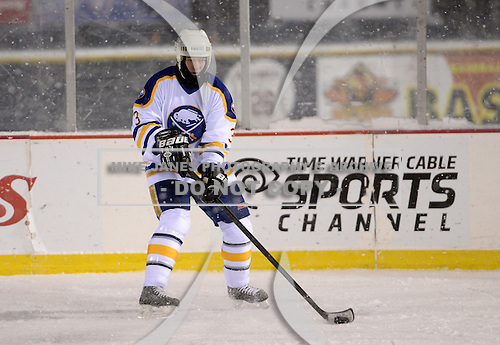 Grant Ledyard (3) during The Frozen Frontier Buffalo Sabres vs. Rochester Amerks Alumni Game at Frontier Field on December 15, 2013 in Rochester, New York.  (Copyright Mike Janes Photography)