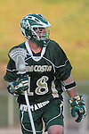 Redondo Beach, CA 05/11/10 - Thomas Farrell (MC # 18) in action during the 2010 Los Angeles Boys Lacrosse championship game, Mira Costa defeated Palos Verdes 12-10 at Redondo Union High School.