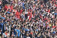 BOGOTA - COLOMBIA, 20-01-2019: Independiente Santa Fe y Millonarios en partido por la final del Torneo Fox Sports 2019 jugado en el estadio Nemesio Camacho El Campin de la ciudad de Bogotá. / Independiente Santa Fe and Millonarios in final match of the Fox Sports Tournament 2019 played at Nemesio Camacho El Campin Stadium in Bogota city. Photo: VizzorImage / Gabriel Aponte / Staff.