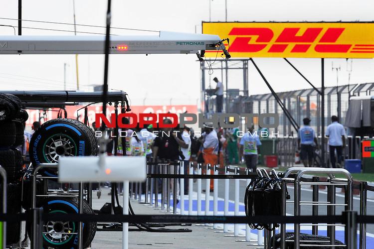 25.-27-10-2013, Jaypee-Circuit, Noida, IND, F1, Grosser Preis von Indien, Noida, im Bild DHL Branding<br />  Foto &copy; nph / Mathis