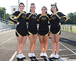 September 2, 2016- Tuscola, IL- The 2016 Tuscola Warrior Football Cheerleader Seniors. From left are Peyton Kresin, Miah Holmes, Baylee Tackitt, and Sophia Christy. [Photo: Douglas Cottle]