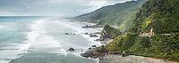 Scenic coastline near Punakaiki, Paparoa National Park, Buller Region, West Coast, New Zealand, NZ