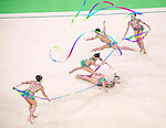 Russia team group (RUS),<br /> AUGUST 20, 2016 - Rhythmic Gymnastics :<br /> Group All-Around Qualification, Rotation 1 Ribon at Rio Olympic Arena during the Rio 2016 Olympic Games in Rio de Janeiro, Brazil. (Photo by Enrico Calderoni/AFLO SPORT)
