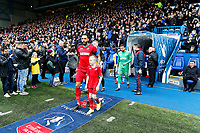 Kyle Bartley of Swansea City leads team mates onto the pitch during The Emirates FA Cup Fifth Round match between Sheffield Wednesday and Swansea City at Hillsborough, Sheffield, England, UK. Saturday 17 February 2018