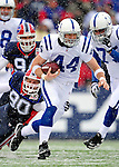 3 January 2010: Indianapolis Colts' tight end Dallas Clark (44) in action against the Buffalo Bills on a cold, snowy, final game of the season at Ralph Wilson Stadium in Orchard Park, New York. The Bills defeated the Colts 30-7. Mandatory Credit: Ed Wolfstein Photo