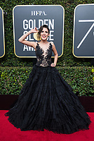 Laura Marano arrives at the 75th Annual Golden Globes Awards at the Beverly Hilton in Beverly Hills, CA on Sunday, January 7, 2018.<br /> *Editorial Use Only*<br /> CAP/PLF/HFPA<br /> &copy;HFPA/Capital Pictures