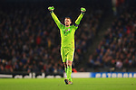 Manuel Neuer of Munich celebrates his sides first goal - Manchester City vs. Bayern Munich - UEFA Champion's League - Etihad Stadium - Manchester - 25/11/2014 Pic Philip Oldham/Sportimage