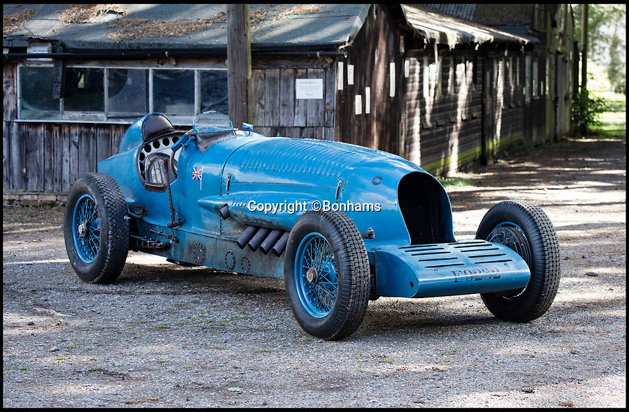 BNPS.co.uk (01202 558833)<br /> Pic: Bonhams/BNPS<br /> <br /> A car nut who spent five years faithfully building a magnificent replica of Sir Malcolm Campbell's Blue Bird racing car from scratch has sold it for more than £260,000.<br /> <br /> Lord Lorne Jacobs constructed the 12ft long machine in homage to the legendary driver's Napier Blue Bird car which set the world land speed record of 196mph in 1927.<br /> <br /> The eccentric motor enthusiast used his garden shed at his suburban semi-detached home in Northolt, Middlesex, as the workshop for the mammoth project.<br /> <br /> He sold his 21st century version at an auction held by Bonhams at the National Motor Museum at Beaulieu, Hants, for £264,000.