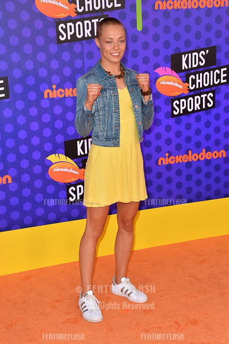Rose Namajunas at the Nickelodeon Kids' Choice Sports Awards 2018 at Barker Hangar, Santa Monica, USA 19 July 2018<br /> Picture: Paul Smith/Featureflash/SilverHub 0208 004 5359 sales@silverhubmedia.com