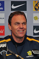 MELBOURNE, AUSTRALIA, 6 JUNE - Holger Osieck (manager) at the Australian Socceroos press conference and training session ahead of an international friendly with Serbia at Etihad Stadium on June 6, 2011 in Melbourne, Australia. Photo by Sydney Low / AsteriskImages.com