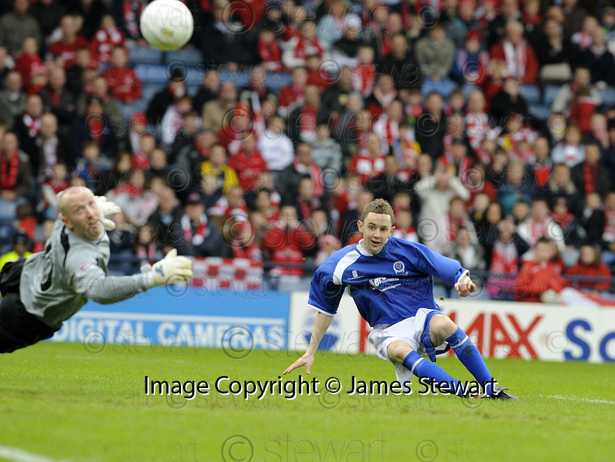 12/04/2008    Copyright Pic: James Stewart.File Name : sct_jspa03_qots_v_aberdeen.PAUL BURNS SCORES QUEEN OF THE SOUTH'S SECOND....James Stewart Photo Agency 19 Carronlea Drive, Falkirk. FK2 8DN      Vat Reg No. 607 6932 25.Studio      : +44 (0)1324 611191 .Mobile      : +44 (0)7721 416997.E-mail  :  jim@jspa.co.uk.If you require further information then contact Jim Stewart on any of the numbers above........