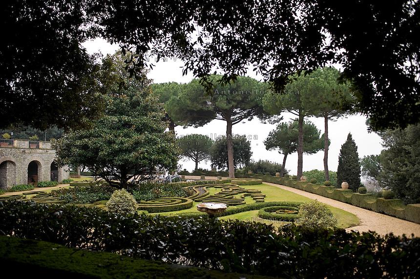 Roma, 22 Febbraio 2013. I giardini della residenza estiva Papale di Castel Gandolfo.