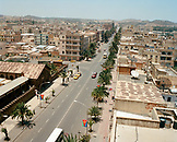 ERITREA, Asmara, elevated view of Asmara from the Latin Cathedral on Liberation Avenue